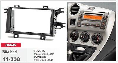 CARAV 11-338 2DIN Car Dash Kit panel TOYOTA Matrix 08-11 PONTIAC Vibe 08-09