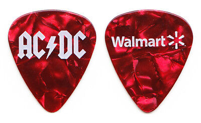 AC/DC Red Pearl Promotional Walmart Guitar Pick - 2008 for sale  Shipping to India