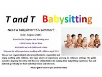 BABYSITTERS IN CROYDON - CHILD CARE EXPERIENCE, CHEAP RATES, ACTIVITIES PROVIDED