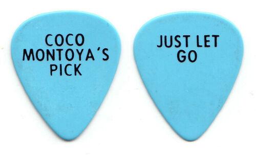 Vintage Coco Montoya Light Blue Guitar Pick - 1997 Just Let Go Tour