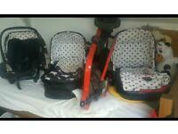 Cosatto giggle travel system pram / car seat cot & more
