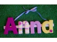Yarn wrapped letters (COLOURED WORLD)