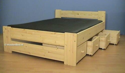 ≥ stevige houten bedden vele mogelijkheden - slaapkamer | bedden, Deco ideeën
