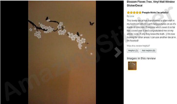 Blossom Flower,Tree, Vinyl Wall Window Sticker/Decal