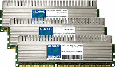 3GB (3 x 1GB) DDR3 2000MHz PC3-16000 240-PIN DIMM OVERCLOCK GAMING PC RAM KIT