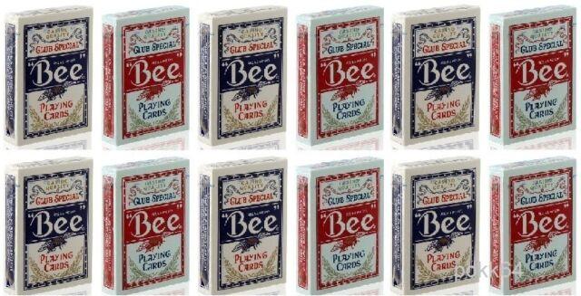 Cartucho de 12 Juegos 54 Poker Bee Club Especial 54 Tarjetas 0922