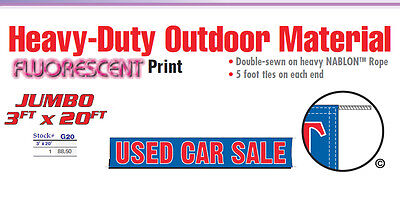 Used Car Sale Banner Sign 20 Feet Vehicle Car Lot Buy Here Pay Here Financing