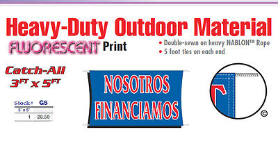 Nosotros Financiamos Banner Sign We Finance Buy Here Pay Here Spanish Signs