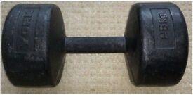25kg York Legacy Dumbbell (x1)
