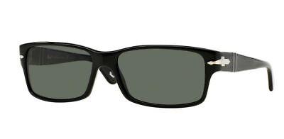 PERSOL 2803S Sunglasses 95/58 | BLACK / POLARIZED CRYSTAL GREEN | 58MM (Persol Po 2803s Sunglasses)