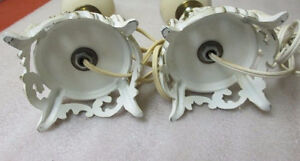 Pair Shabby & Chic French Provicial LAMP Base White Gold Metal S Peterborough Peterborough Area image 9