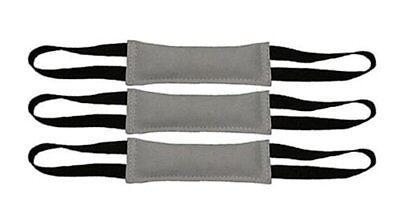 Bundle of 3 Premium Leather Bite Dog Tug Toy 2 Handle 3