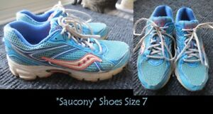 2 Pairs of shoes size 7 for sale (1 Saucony and a brand new pair