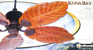 """Brand New 52"""" Kona Bay Craftmade Ceiling Fan with 5 Blades"""