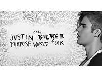 X2 Justin Bieber Purpose Tour Tickets, 3 Arena, Dublin