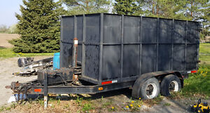 extra heavy duty dumping trailer