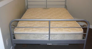 IKEA Silver Steel Double/Full Bed Frame in Great Condition