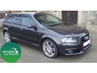 ONLY £161.47 PER MONTH GREY 2009 AUDI A3 2.0 TDI SPORTSBACK TRONIC S LINE 5 DOOR