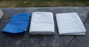 Tarp (x3): 12' x 14' and 6' x 8' sizes available