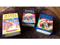 3 Harry potter hardback books - first editions