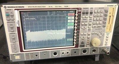 Fsem30 Rohde Schwarz 26.5 Ghz Spectrum Analyzer Opt Fse-b7 6 Mo Warranty