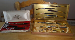 BAKELITE, SET de BAR GLO HILL et CARVING SET