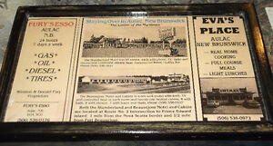 Aulac,NB- hand-crafted ads - 4 vintage ads mounted in 1 pic