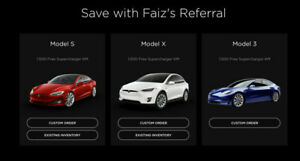 Tesla Referral Code FREE SUPERCHARGER KMS  + $5000 Incentive