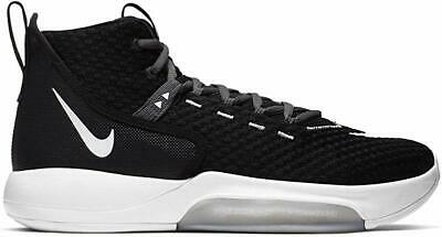 Nike Men's Zoom Rize TB Basketball Shoes, Black/White/Wolf Grey, 8.5 D(M) US