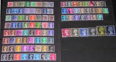 GB Machin Definitives decimal collection 93 diff used stamps cv $108.50
