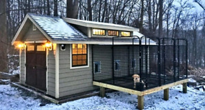 Winterized Doghouses Custom and Standard Ready in 48 Hours