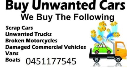 Unwanted Car Removals Sydney & Scrap Car Removal