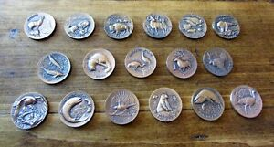 17 Bronze America's 'Natural Legacy' Wildlife Coins by Wittnauer