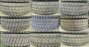 65-99% TREAD*225/70R19.5 TIRES (LOTS OF PAIRS) Tires are inspect