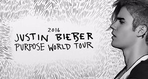 Justin Bieber - Sept 6 at Rogers Center - 2 pairs of FLOOR SEATS
