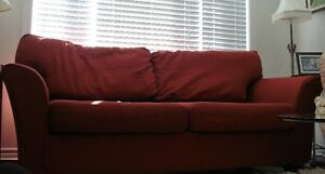 Loveseat, pretty in red London Ontario image 1