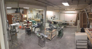 WOOD SHOP BENCH SPACE AVAILABLE