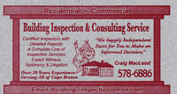 Building Inspection & Consulting Service, Cape Breton.