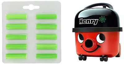 HENRY vacuum cleaner hoover AIR FRESHENER PELLETS PACK OF TEN POP IN DUST BAG 10