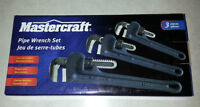 Pipe Wrenches - MasterCraft - 3 Pack - NEW
