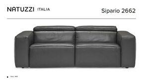 Sofa électrique Sipario de Natuzzi italia - en cuir véritable Saguenay Saguenay-Lac-Saint-Jean image 2
