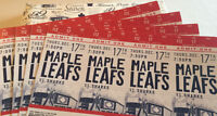 Leafs First-Row Reds 4 Seats Together 4-Game Pack