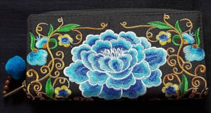 Embroidery Design Long Ladies Wallet