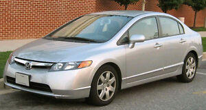 LOOKING FOR 2006 Honda Civic sedan automatic 4 drs 2600-2800$