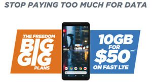 Save over $40/mo on your phone plan with Freedom Mobile!