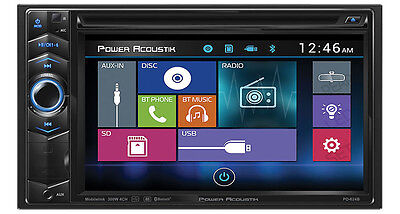 NEW POWER ACOUSTIK PD-624B DOUBLE-DIN BLUETOOTH DVD/CD/MP3/AM/FM IN-DASH CAR