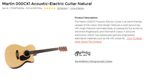 Martin 000CX1 Acoustic Electric Guitar is