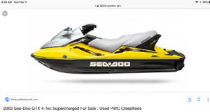 Broken 2003 Seadoo GTX supercharged 4-tec