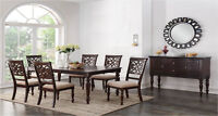Solid Wood Carving Dinette  7pcs Only $899