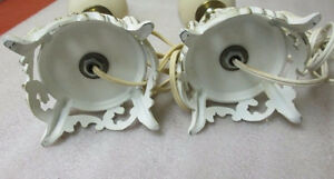 Pair Shabby & Chic French Provicial LAMP Base White Gold Metal S Kitchener / Waterloo Kitchener Area image 2